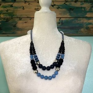 NWT Loft Outlet Beaded 2-Tier Necklace